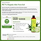 Organic Aloe Vera Gel with 100% Pure Aloe From Freshly Cut Aloe Plant, Not Powder - No Xanthan, So It Absorbs Rapidly With No Sticky Residue - Big 12 oz #1