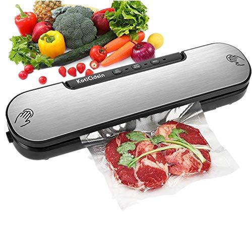 KotiCidsin Machine Sous Vide, Appareil de Mise Sous Vide Alimentaire Automatique avec 10 Sacs Sans BPA pour Aliments, Viandes, Légumes, Fruits
