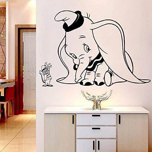 Calcomanías de pared de dibujos animados bebé elefante lindo ratón niños decoración del hogar