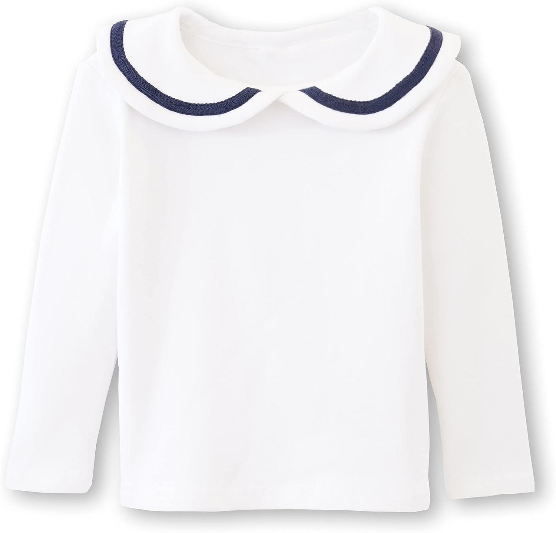 ContiKids Girls' Peter Pan Collar Polo Shirt Blouse Long Sleeve Toddler Top Clothes