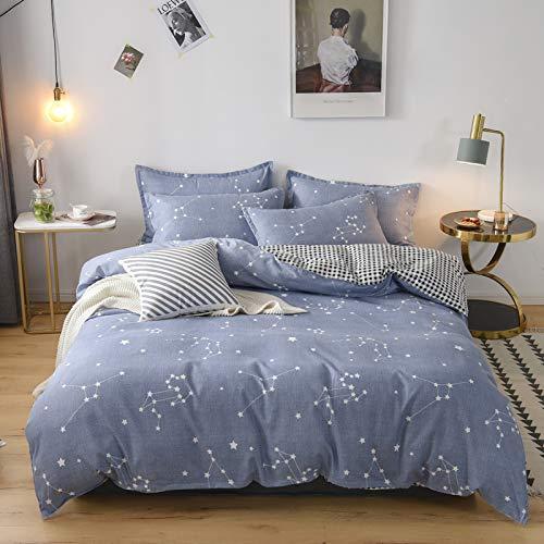 YYSZM - Set di biancheria da letto in cotone per letto king size e queen size