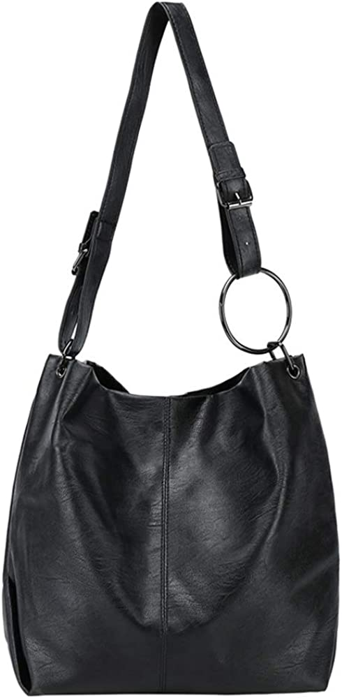 Large Capacity Soft PU Leather Tote Shoulder Bag Fashion Simple Handbags and Purses Hobo Bags for Women and Ladies