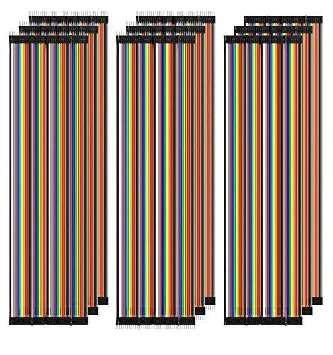 AZDelivery 3 x Jumper Wire Kabel 3 x 40 STK. je 20 cm M2M/ F2M / F2F kompatibel mit Arduino und Raspberry Pi Breadboard inklusive E-Book!