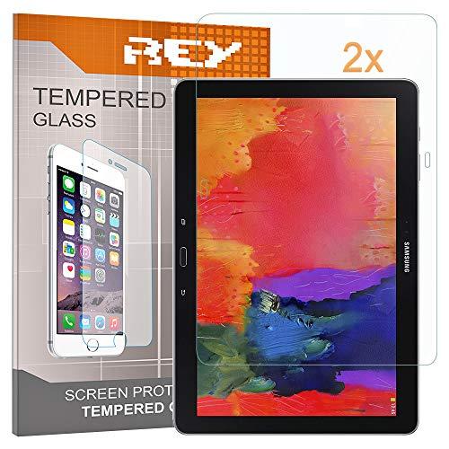 """REY Pack 2X Panzerglas Schutzfolie für Samsung Galaxy TAB S 10.5"""" T800 WI-FI Y 4G, Displayschutzfolie 9H+ Härte, Anti-Kratzen, Anti-Öl, Anti-Bläschen"""