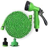 Moonight Garden Hose Nozzle -Water Sprayer/Hand Sprayer -7 Pattern High Pressure Watering Spray Gun Nozzles (100FT-30M, Green)
