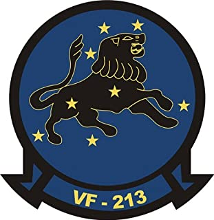 """MAGNET US Navy VF-213 Black Lions Squadron Decal Magnetic Sticker 3.8"""""""