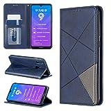 Jieheng Coque Huawei Y7 2019/Y7 Pro 2019,Rhombe Couleur unie Pattern PU Cuir Flip Case de Protection...