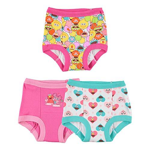 Sesame Street Girls' Elmo Girl 3 Pack Training Pant