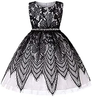 Ashtray - Child Girls Noble Lace Bowknot Princess Wedding Performance Formal Tutu Dress Clothes