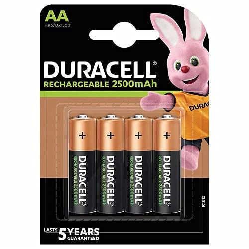 Duracell HR6 AA 4-pack Nickel-Metal Hydride (NiMH) 2650mAh 1.2V rechargeable battery - rechargeable batteries (Nickel-Metal Hydride (NiMH), 2650 mAh, 1.2 V, AA, 119 x 84 x 15 mm)