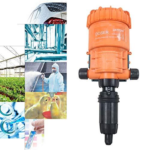 WOFEI 0,2-2% Düngerinjektor Dosierer Wasserbetriebene Dosierpumpe Flüssigverdünner Dosierer für Viehzucht Autowäsche Hygiene und Desinfektion Gartenbewässerung