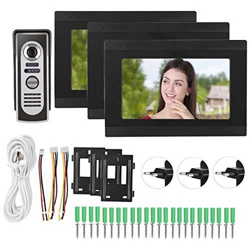 Timbre inteligente con monitor LCD digital HD de 7 pulgadas, timbre de intercomunicación con video Wifi con(European regulations)