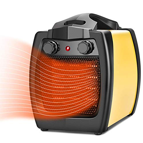 Portable Space Heater - 2 In 1 Ceramic Heater, 1500W Electric Heater, Fan Heater, Fast Heating, Thermostat Adjustable, Overheat and Tip-Over Protection, Indoor Portable Heater