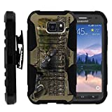 TurtleArmor | Compatible with Samsung Galaxy S6 Active Case | G890 [Hyper Shock] Hard Reinforced Rugged Impact Gel Hybrid Cover Holster Belt Clip Kickstand - Deer Hunting Season