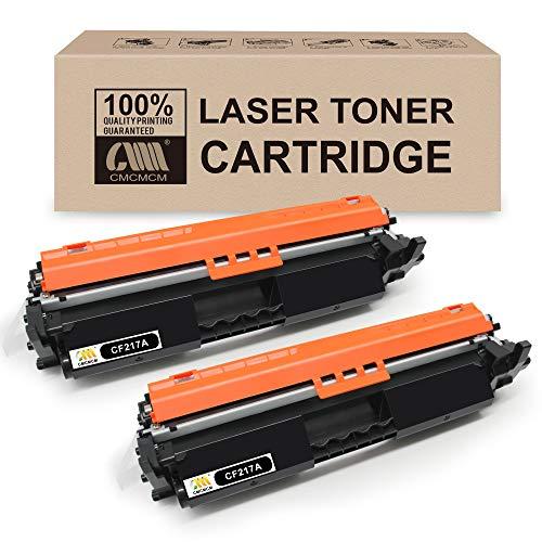 CMCMCM 2PK - Cartucho de tóner compatible para impresora HP 17A CF217A, trabajo para HP LaserJet Pro MFP M130nw M130fw M130fn M130A M102w M102A - Alto rendimiento
