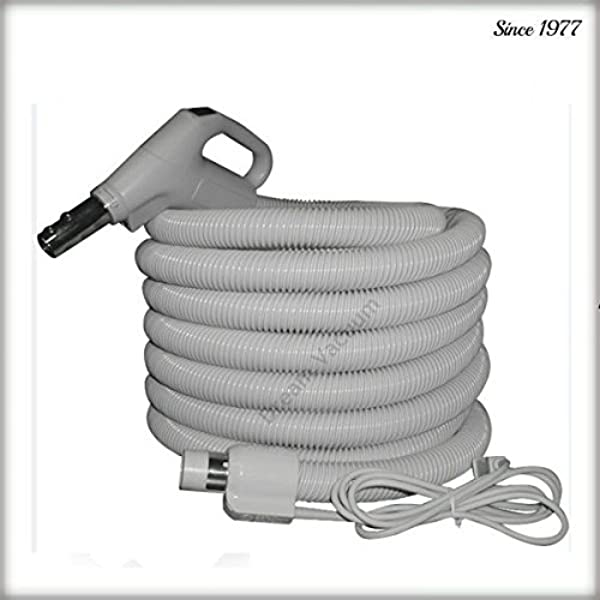 NuTone 35ft Pigtail Electric Hose With 3 Way Switch Button Lock Crushproof Free Hose Hanger Free 2 Day Shipping From Dream Vac