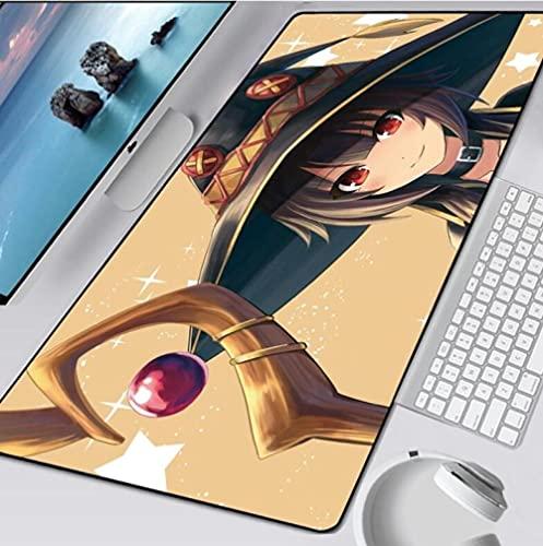 Alfombrilla De Ratón para Juegos Anime Cute XXL Alfombrilla De Ratón Grande para Ordenador Bloqueo De Borde Speed Gamer Alfombra Teclado Alfombrilla De Escritorio Pc 1000MMx500MM
