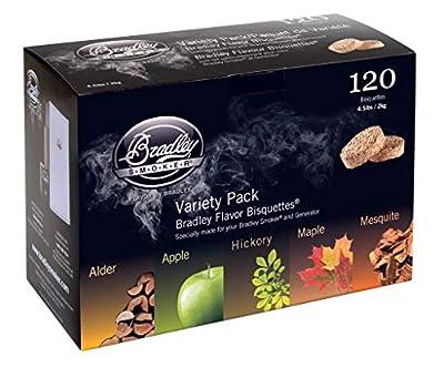 Bradley Flavor Bisquettes - 5 Flavor Variety 120Pk