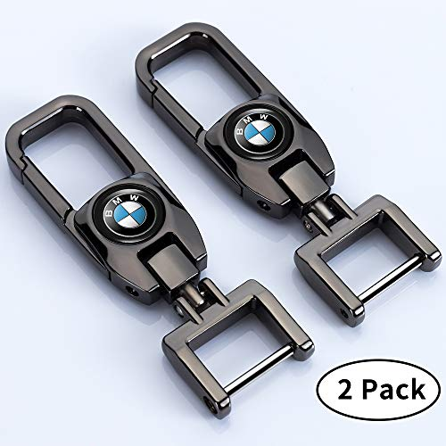 Goshion 2Pack Car Logo Keychain Suit for BMW 1 3 5 6 Series X5 X6 Z4 X1 X3 X7 7 Series, M Key Chain Keyring Family Present for Man and Woman