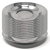 Menax - Plato para Aperitivos - Acero Inoxidable - 14 cm - Set de 12