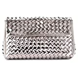 Pons Quintana Pons Quintana Silver-colored Shoulder Bag In Woven Leather Silver