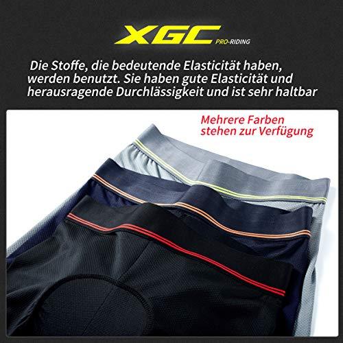 Herren Radunterhose Radsportshorts Fahrradhosen mit elastische atmungsaktive 3D Gel Sitzpolster mit Einer hohen Dichte (Black, XXL) - 5