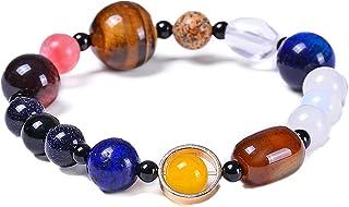 Homelavie Chakra Bracelets for Women Universe Solar System Bracelet The Eight Planets Guardian Star Natural Stone Beads Br...