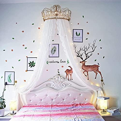 Canopy Para Cama De Princesa, Cúpula Redonda Universal Para Niños, Mosquitera De Algodón, Cortina Colgante Para Bebé Interior Exterior Juego Tienda De Lectura Dormitorio Decoración