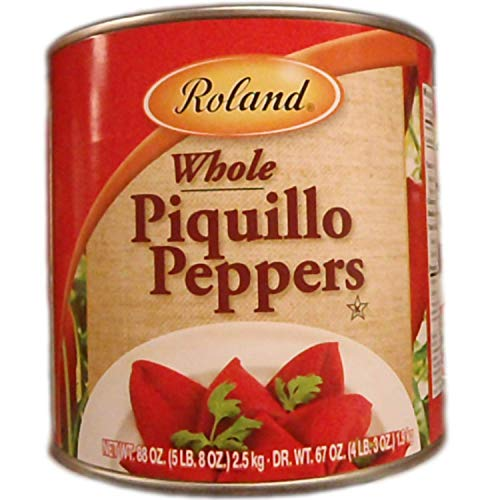 Roland Foods Whole Red Piquillo Peppers, Specialty Imported Food, 5 Lb 8 Oz Can