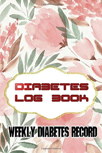 Diabetes Record Keeping Book: One Year Notebook For Type Diabetics Size 6 X 9 Inch Matte Cover Design Cream Paper Sheet ~ Simple - Mini # Enough 112 Page Good Print.