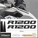 Black Doves Graphics 2pcs Aufkleber R1200 kompatibel für Motorrad BMW R1200GS R 1200 GS Adventure (Anthrazit)