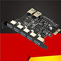 SuperSpeed USB 3.0 7 Port PCI-E Express card with a 15pin SATA Power Connector PCIE Adapter NEC720201 and GL3510 chipsets