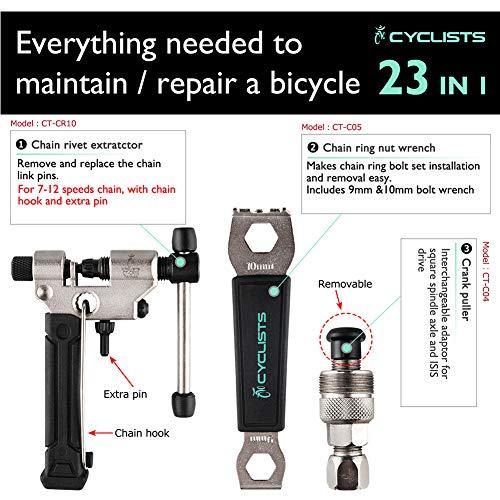 CYCLISTS自転車専用工具セット23点セットシマノ対応ツールボックス付き自転車組立てメンテナンス修理(CT-K01)