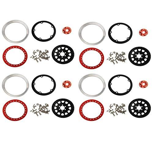 Tomantery RC Wheel Beadlock RC Car Accesorios Aleación de Aluminio 2.2inch Estilo 1:10 RC Car con Nueva Apariencia(4 Pieces)