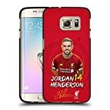 Oficial Liverpool Football Club Jordan Henderson 2019/20 Primer Equipo Grupo 1 Funda de Gel Negro Compatible con Samsung Galaxy S7 Edge