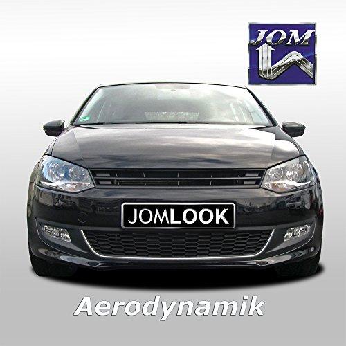 JOM Car Parts & Car Hifi GmbH 6R0853653OE JOM calandre de radiateur sans Sigle Compatible avec Polo 5 (6R) - Noir - Qualité Allemande