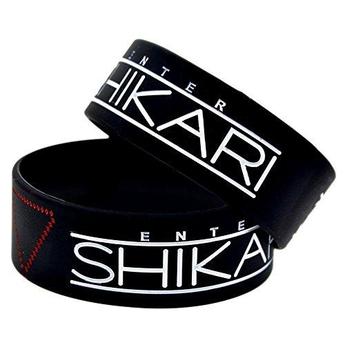 North King Silicone Hand Bracelet With Logo Enter Shikari On It 1 inch Bracelet Creative Gift Souvenir
