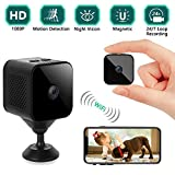 Mini Spy Camera Wireless Hidden, 1080P WiFi Portable Small Covert Home Nanny Security Cam with Motion Detection