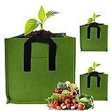 GOICC Bolsas de Cultivo Transpirables para jardín, macetas de Tela de aireación no Tejida con Asas para Maceta de jardín Interior para Plantas, Flores, Verduras,7 gallons