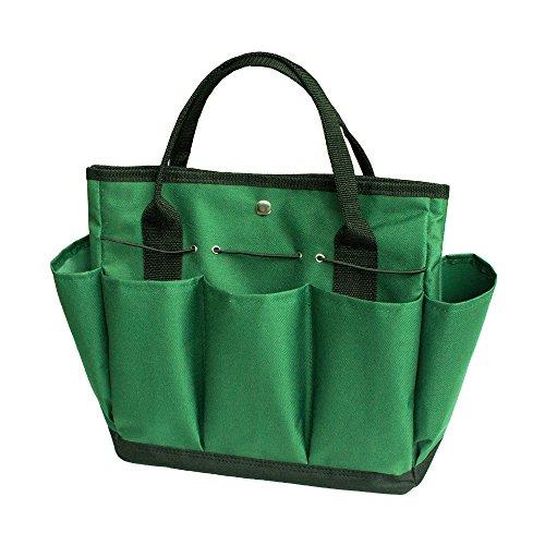 Bolsa de almacenamiento de herramientas de jardinería - Organizador de herramientas de jardinería con 8 bolsillos Oxford para exteriores de interior