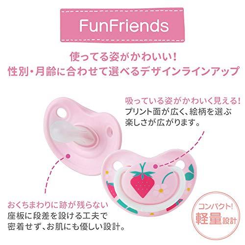 ピジョンおしゃぶりFunFriends3-6ヵ月/Mサイズペンギン柄肌にやさしいシリコーン