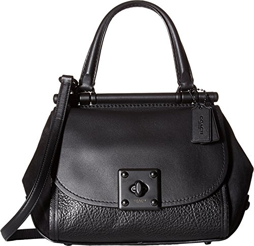 COACH Mixed Leather Drifter Top-Handle Mw/Black One Size