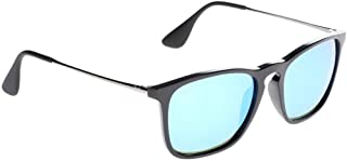 Ray-Ban Men's Chris Sunglasses,54mm,Black/Light Green Mirror Blue