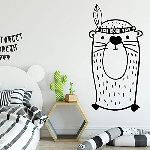 Lindo leopardo habitación de los niños dormitorio decoración etiqueta de la pared etiqueta creativa pintura de pared etiqueta de la pared otro color L 43x85cm