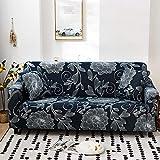 WXQY Funda de sofá de Color para Sala de Estar, cojín de protección para Muebles de Tela elástica, Funda de protección para sofá en Forma de L, combinación A10, 3 plazas