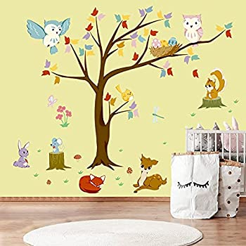 KIDSKY Woodland Nursery Wall Decal (4 options)