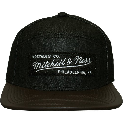 Mitchell And Ness - Casquette 6 Panel Hybrid Homme Label Pinch Panel - Grey/Brown
