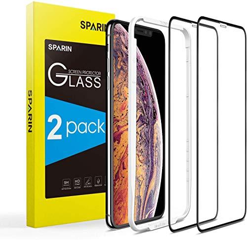 Sparin Displayschutzfolie für iPhone 11 Pro Max / iPhone XS Max, 2 Stück