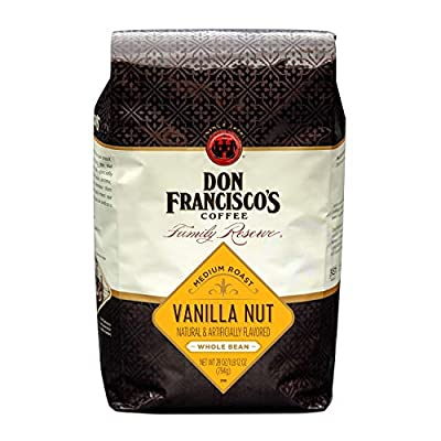 Don Francisco's Vanilla Nut Flavored Whole Bean Coffee 28 Ounce. bag