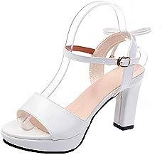 2019 Zapatos De Tacón Alto Ancho, YUANSAI Sandalias De Vestir Mujer Peep-Toe Zapatos De Color Solido Elegante Sandalias De Vestir De Boda Fiesta Calzado Zapatillas De Baile De Verano Primavera